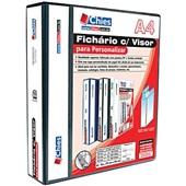 Fichário Jumbo com Visor Transparente 4 Argolas Preto Chies