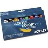 Tinta Acrílica para Tela 8 Cores 20ml Acrilex
