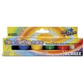 Tinta Acrílica Fosca 6 Cores 15ml Acrilex