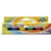 Tinta para Tecido 6 Cores 15ml Acrilex