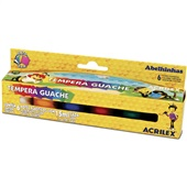 Tinta Guache Abelinhas 6 Cores 15ml Acrilex