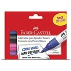 Pincel Marcador Quadro Branco Sortidas 4 Cores Faber Castell