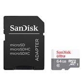 Cartão Memória 64GB Micro SD Adaptador Class 10 1 UN SanDisk