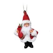 Mini Papai Noel Segurando Pinheiro 17x11cm 1713949 CX 1 UN Cromus