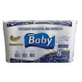 Papel Toalha Bobina 20cm x 100m Branco Reciclado PT 8 RL Baby