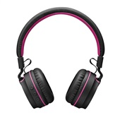 Headphone On Ear Stereo Fun Bluetooth Preto e Rosa PH216 1 UN Pulse