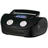Caixa de Som 15W Boombox USB P2 FM Cartão de Memória RMS SP182 Preta Multilaser