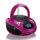 Caixa de Som 20W Boombox com Rádio FM CD Player USB Rosa Multilaser