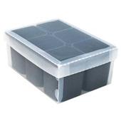 Caixa Organizadora 6 Divisórias Preto 24,5x17,5x10,2cm 1 UN Dello