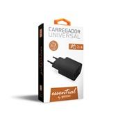Carregador de Tomada Essential 2 saídas USB Bivolt 2.1A Preto ESACB2 1 UN Geonav
