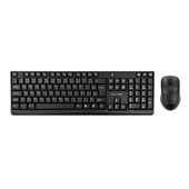 Teclado Mouse Wireless 2.4GHz Multimídia USB Preto TC162 1 UN Multilaser