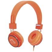 Headphone Fun com Microfone Haste Ajustável Laranja PH086 1 UN Multilaser