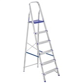 Escada Doméstica Prima com 6 Degraus em Alumínio 1 UN Alustep
