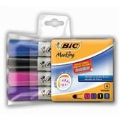 Pincel Marcador Quadro Branco Marking Fashion 4 Cores Bic