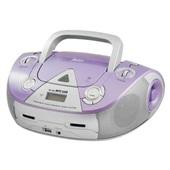 Caixa de Som Boombox Portátil com Rádio FM USB 4W Lilás 1 UN Philco