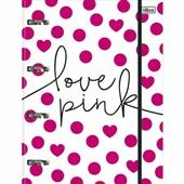 Caderno Argolado Cartonado 200x275mm 80 FL Love Pink 1 UN Tilibra