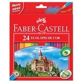 Lápis de Cor Sextavado EcoLápis 24 Cores Faber Castell