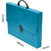 Maleta Novaonda Ofício Azul 380x280mm Dorso 45mm 1 UN Polibrás