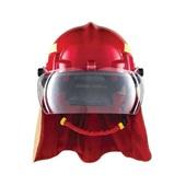 Capacete para Bombeiro Termoplástico com Refletivo Vermelho C.A 35173 1 UN Hércules