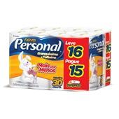 Papel Higiênico Folha Simples 30m Neutro Leve 16 Pague 15 Personal