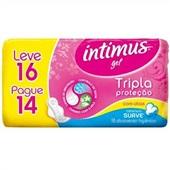 Absorvente Tripla Proteção Suave com Abas Leve 16 Pague 14 Intimus