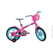 Bicicleta Aço Barbie Aro 16 Rosa 1 UN Caloi