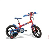 Bicicleta Aço Spider Man Aro 16 Vermelho 1 UN Caloi