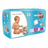 Fralda Descartável Pacote Mega M PT 50 UN Mascot Baby