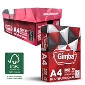 Caixa de Papel Sulfite A4 75g 5000 Folhas Gimba