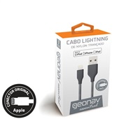 Cabo Lightning USB para iPhone iPad Nylon Gray 1 UN Geonav