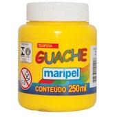 Tinta Guache Amarela 250ml Maripel