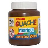 Tinta Guache Marrom 250ml Maripel