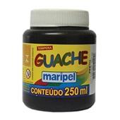 Tinta Guache Preta 250ml Maripel