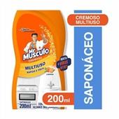 Saponáceo Cremoso 200ml Laranja 1 UN Mr Músculo