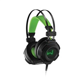 Headset Gamer Warrior USB e P2 Preto e Verde PH225 1 UN Multilaser