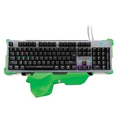 Teclado Gamer Warrior Mecânico RGB LED USB Cinza TC216 1 UN Multilaser