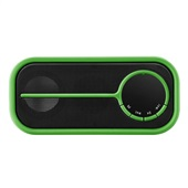 Caixa de Som Bluetooth Color Series Preto e Verde SP208 Pulse