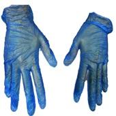 Luva de Vinil XG Azul C.A 21120 CX 100 UN Danny