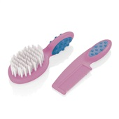 Pente e Escova para Cabelos Soft Touch Rosa BB207 1 UN Multikids Baby