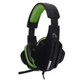 Headset Gamer P2 Preto e Verde PH123 1 UN Multilaser