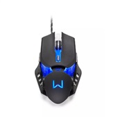 Mouse Gamer Warrior Keon 3200 Dpi Preto MO267 1 UN Multilaser
