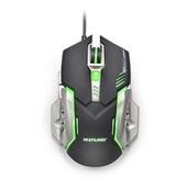 Mouse Gamer 2400 Dpi Preto e Grafite MO269 1 UN Multilaser