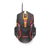 Mouse Gamer 2400 Dpi Preto e Laranja MO270 1 UN Multilaser