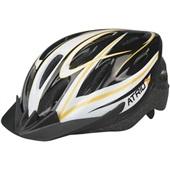 Capacete para Ciclista MTB Preto e Laranja M BI035 1 UN Atrio