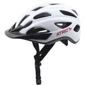 Capacete para Ciclista com LED 2.1 Traseiro Branco M BI109 1 UN Atrio