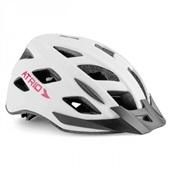 Capacete para Ciclista com LED 2 Traseiro Branco M BI104 1 UN Atrio
