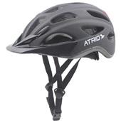 Capacete para Ciclista com LED 2.1 Traseiro Preto Fosco G BI111 1 UN Atrio