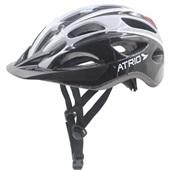 Capacete para Ciclista com LED 2.1 Traseiro Branco e Preto M BI112 1 UN Atrio