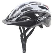 Capacete para Ciclista com LED 2.1 Traseiro Branco e Preto G BI113 1 UN Atrio