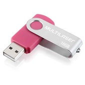 Pen Drive Twist 16GB USB 2.0 Rosa PD688 1 UN Multilaser